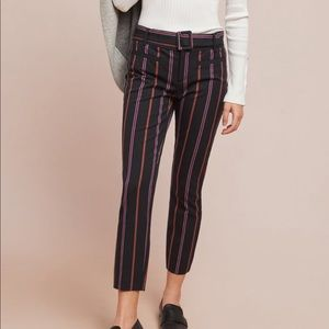 Anthropologie Pin Stripe Trousers